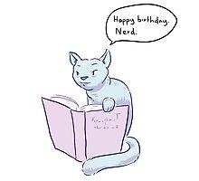 Happy Birthday. Nerd. Photographic Print