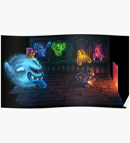 Luigi's mansion painting Poster