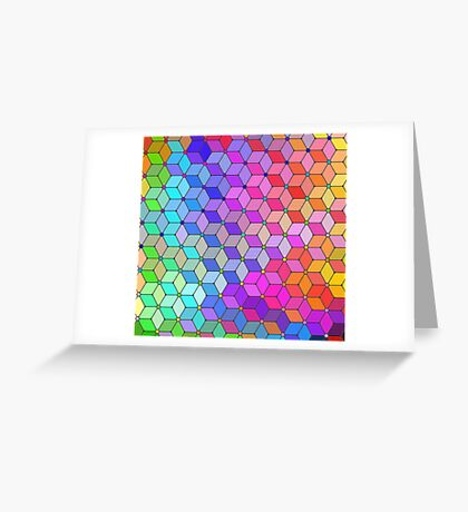 cubes Greeting Card