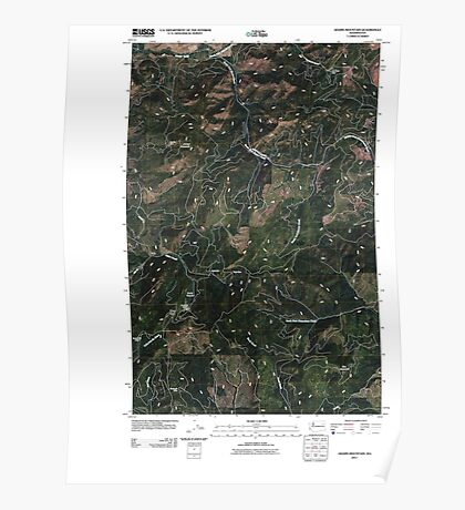 USGS Topo Map Washington State WA Adams Mountain 20110413 TM Poster