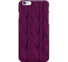Magenta Knit iPhone Case/Skin