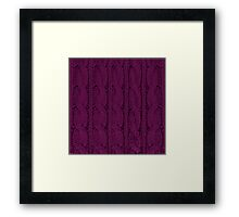 Magenta Knit Framed Print