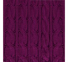 Magenta Knit Photographic Print