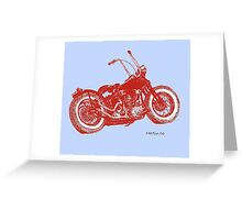 Red Knuckle on Blue Greeting Card