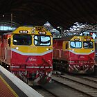 VLine Loco 457 &amp; 458 Melbourne by Alison Murphy
