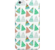 Cute green coral vintage Christmas tree pattern  iPhone Case/Skin
