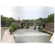 Ponte Garibaldi, Roma Poster