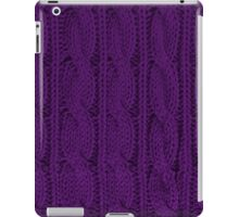 Knit Purple iPad Case/Skin