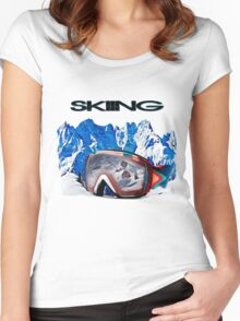Vintage Snow Skiing gifts Women's Fitted Scoop T-Shirt
