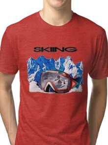 Vintage Snow Skiing gifts Tri-blend T-Shirt