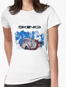 Vintage Snow Skiing gifts Womens Fitted T-Shirt