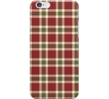 Chic burgundy green christmas plaid tartan iPhone Case/Skin