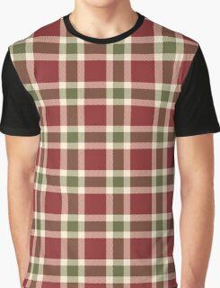Chic burgundy green christmas plaid tartan Graphic T-Shirt