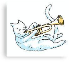 Trumpeting Kitty Canvas Print