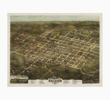 Panoramic Maps Bird's eye view of the city of Raleigh North Carolina 1872 Baby Tee