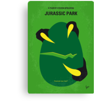 No047 My Jurassic Park minimal movie poster Canvas Print