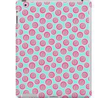 Trendy retro modern teal pink circles pattern iPad Case/Skin
