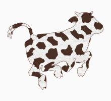 Cow With Brown Spots   Baby Tee