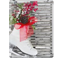 Christmas Ice Skate Shoes Vintage Rustic  iPad Case/Skin