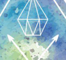 Watercolor Diamond Sticker