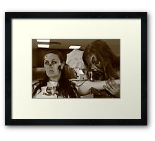 Zombies at the Blood Bank Framed Print