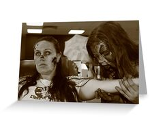 Zombies at the Blood Bank Greeting Card