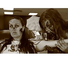 Zombies at the Blood Bank Photographic Print