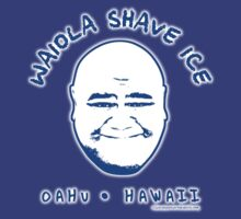 Hawaii 5-0 Waiola Shave Ice Logo (Navy + Halo) by Sharknose