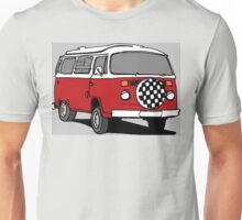 Red Vee Dub Bus Unisex T-Shirt