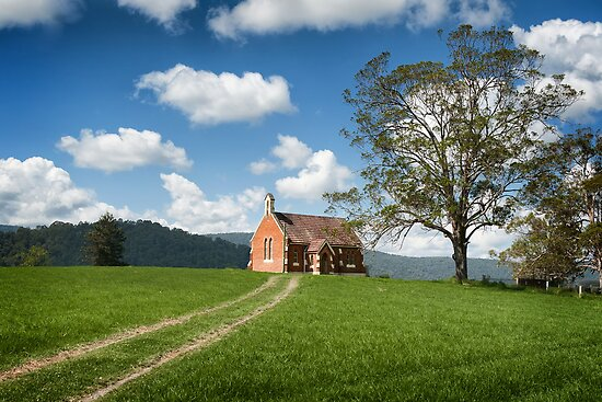 Church on a Hill by Michael Howard