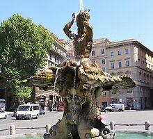 Fontana del Tritone, Roma by Ben Fatma Marc