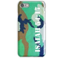 Camouflage Isaiah 54:17 iPhone Case/Skin