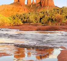 Cathedral Rock and Oak Creek, Sedona, AZ by Pete Paul