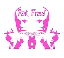 "Pink Freud ""P-ink Blot"" Photographic Print"