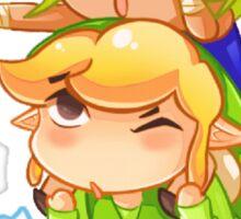 Legend of Zelda Wind Waker: Link and Tetra Sticker