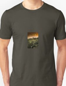 Full Moon Landscape at Sunset T-Shirt