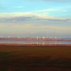 windpower watercolour by geophotographic
