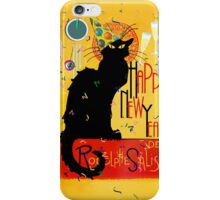 Chat Noir New Years Party Countdown iPhone Case/Skin