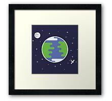 Earth & Moon Framed Print