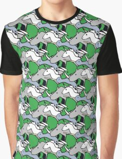 Horned Warrior Friends pattern (unicorn, narwhal, triceratops, rhino) Graphic T-Shirt