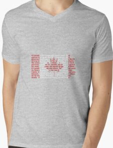 Oh Canada flag Mens V-Neck T-Shirt