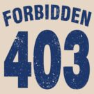 Team shirt - 403 Forbidden, blue by JRon
