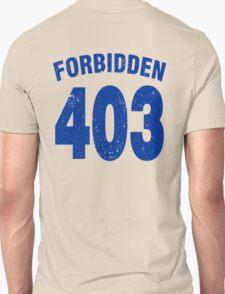Team shirt - 403 Forbidden, blue T-Shirt