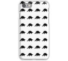 Stegosaurus Silhouette Pattern iPhone Case/Skin
