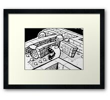 Pack Man Framed Print