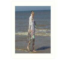 Beachwalk Art Print
