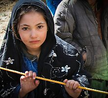 Afghan Refugee Girl 2 by David R. Anderson