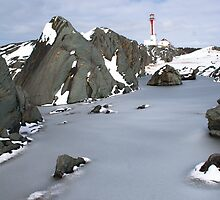 Winter at Cape Forchu - YarmouthNS by Shawn Bourque