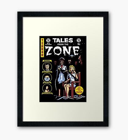 Tales From the Zone Framed Print