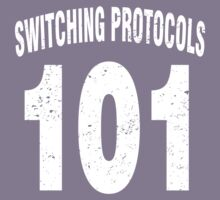 Team shirt - 101 Switching Protocols, white letters Kids Clothes